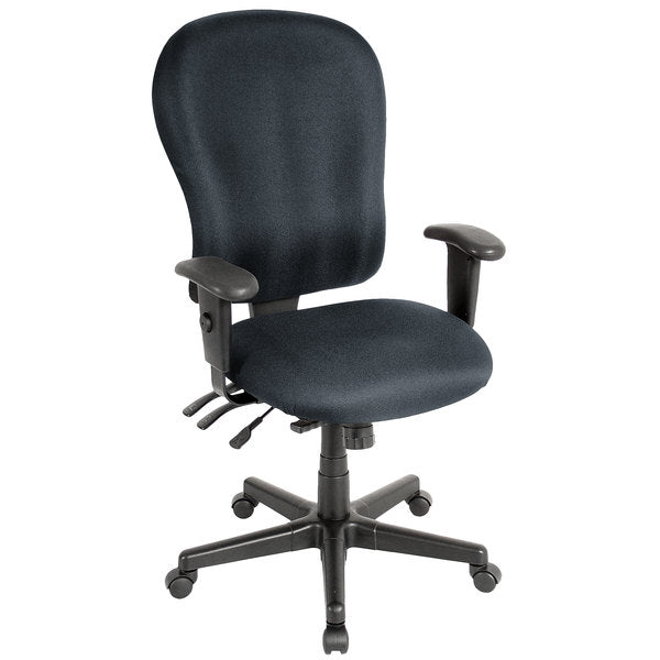 "HomeRoots Office 29"" x 26"" x 40.5"" Charcoal Fabric Chair"
