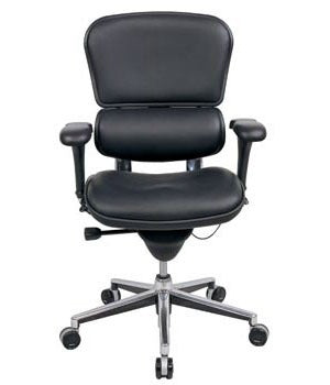 "HomeRoots Office 26"" x 27.5"" x 40"" Black Leather Chair"