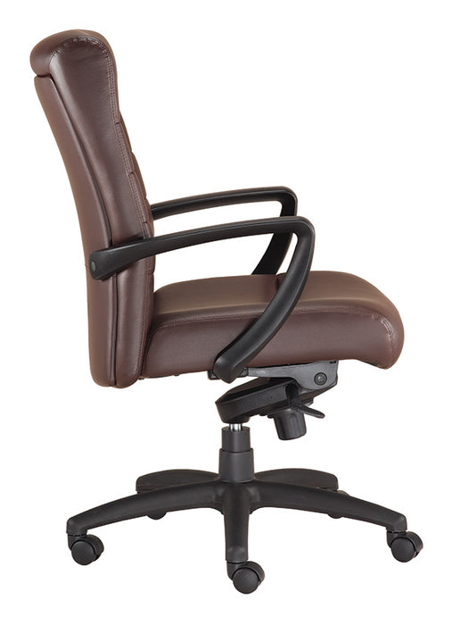 "HomeRoots Office 25.8"" x 29"" x 42"" Brown Leather  Chair"