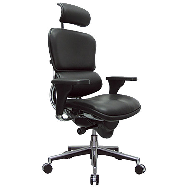 "HomeRoots Office 26"" x 27.5"" x 46"" Black Leather Chair"