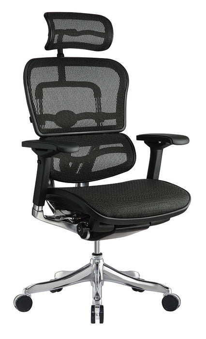 "HomeRoots Office 26.4"" x 26"" x 39.4"" Black Mesh Elite Mid Back Chair"
