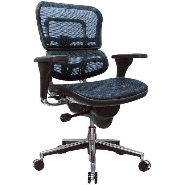"HomeRoots Office 26.5"" x 29"" x 39.5"" Blue Mesh Chair"