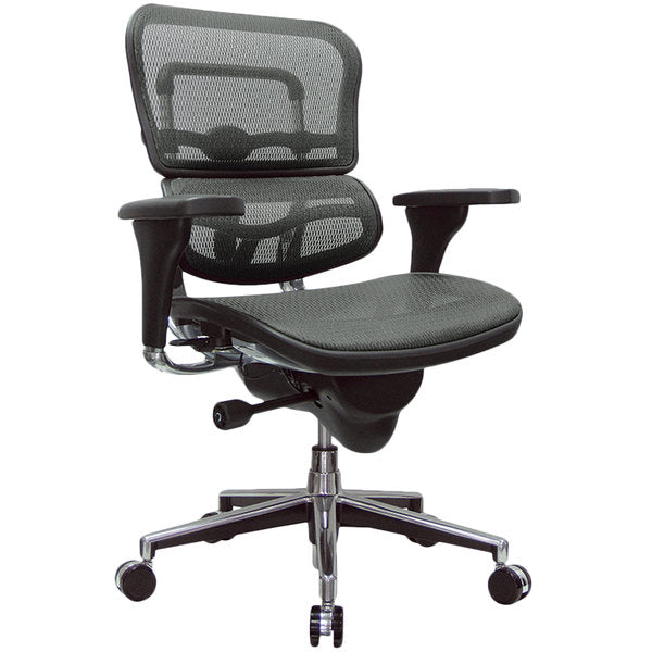 "HomeRoots Office 26.5"" x 29"" x 39.5"" Grey Mesh Chair"