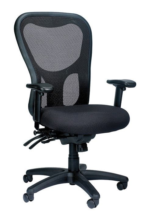 "HomeRoots Office 26"" x 24"" x 41"" Black  Mesh / Fabric Chair"