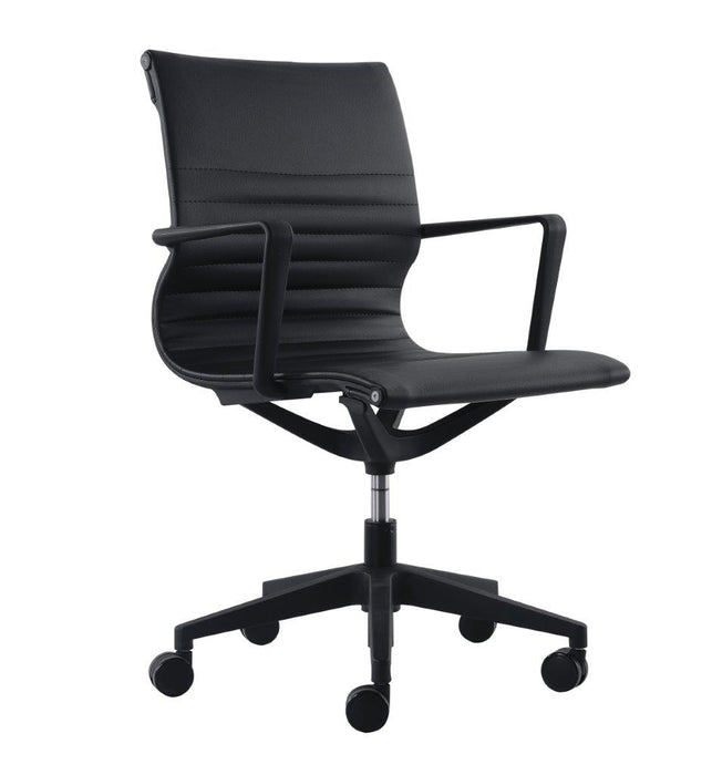 "HomeRoots Office 23.8"" x 20.8"" x 35.8"" Black Mesh Flex Tilt Chair"