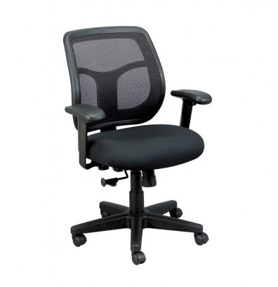 "HomeRoots Office 26"" x 30"" x 36""  Black Mesh / Fabric Chair"