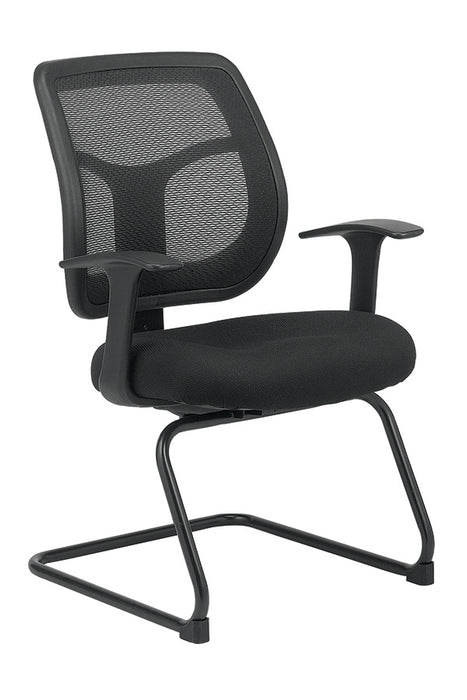 "HomeRoots Office 24"" x 20"" x 36""  Black Mesh / Fabric Guest Chair"