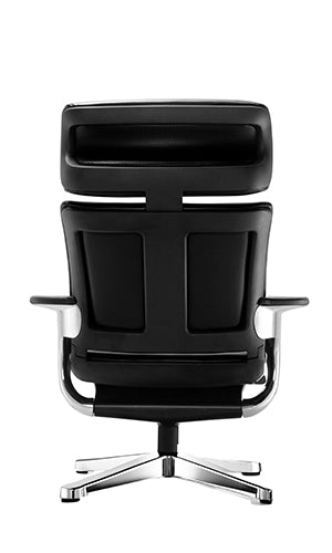 "HomeRoots Office 32.5"" x 32.3"" x 40.75"" Black Leather  Chair"