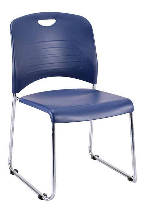 "HomeRoots Office 18"" x 22.5"" x 33.5"" Navy Plastic Guest Chair"