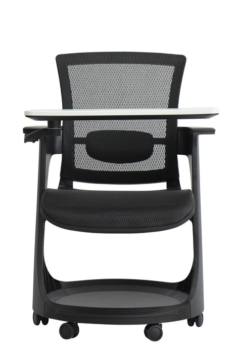 "HomeRoots Office 25"" x 25.4"" x 36.8"" Black Mesh Seat and Back Chair"