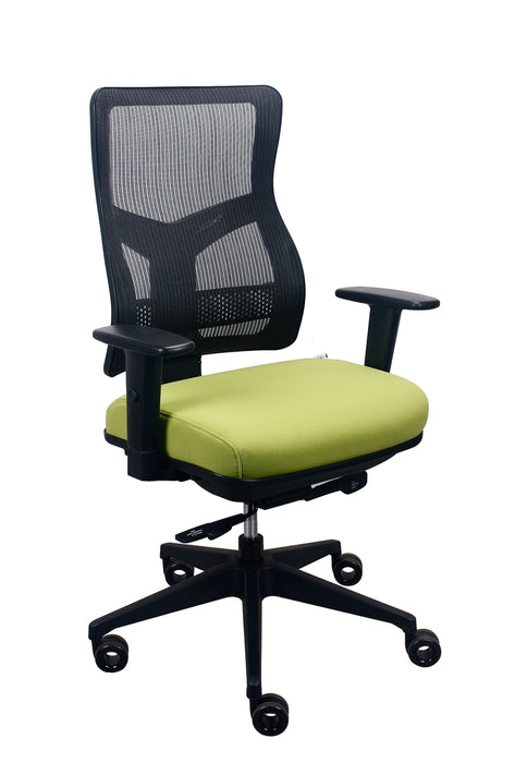 "HomeRoots Office 26.5"" x 23"" x 36.69"" Green Mesh/Fabric Chair"