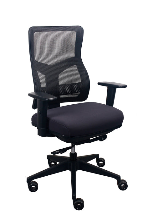 "HomeRoots Office 26.5"" x 23"" x 36.69"" Charcoal Mesh/Fabric Chair"