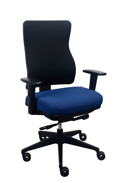 "HomeRoots Office 26.5"" x 23"" x 36.69"" Blue Seat Fabric Chair"