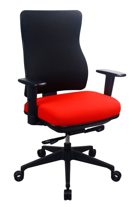 "HomeRoots Office 26.5"" x 23"" x 36.69"" Red Seat Fabric Chair"