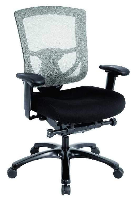 "HomeRoots Office 27.2"" x 25.6"" x 39.8"" Black Mesh / Fabric Chair"