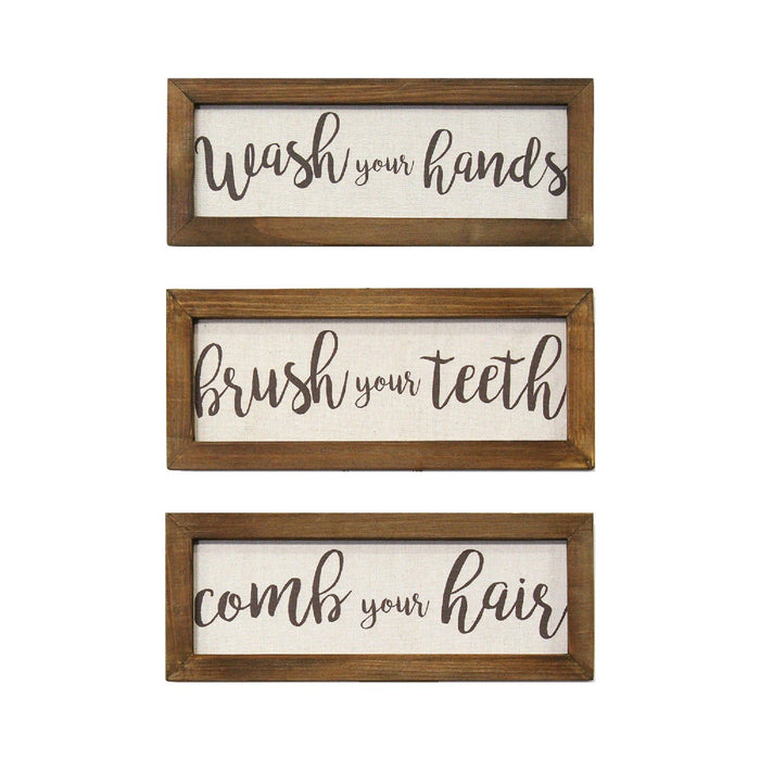 "HomeRoots 12.25"" X 0.5"" X 4.75"" Brown  Wood Mdf Wall Art"