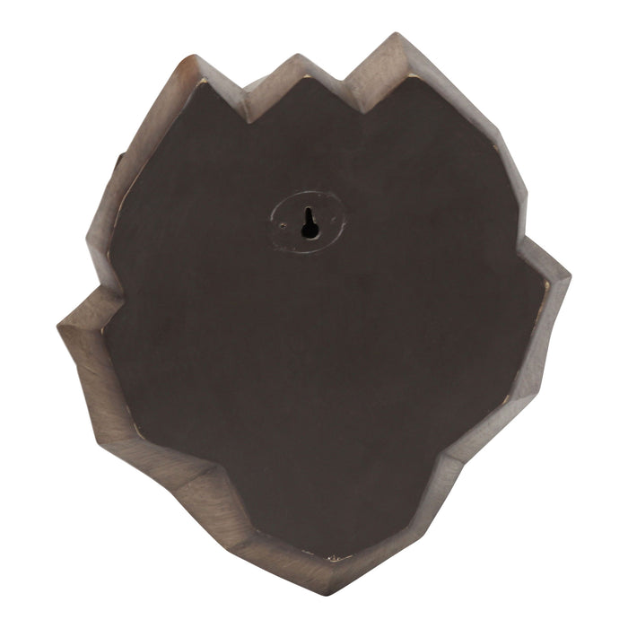 "HomeRoots 10.75"" X 7"" X 11"" Brown Polyresin Wall Decor"