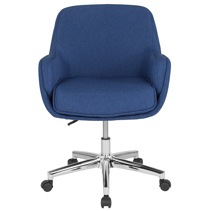 Atlanta Furniture Co. Blue Fabric Mid-Back Chair