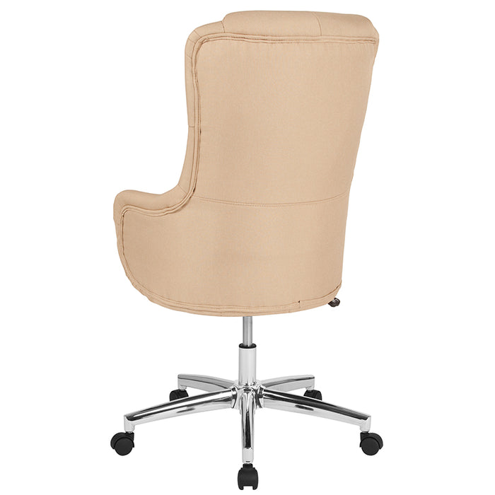 Atlanta Furniture Co. Beige Fabric High Back Chair
