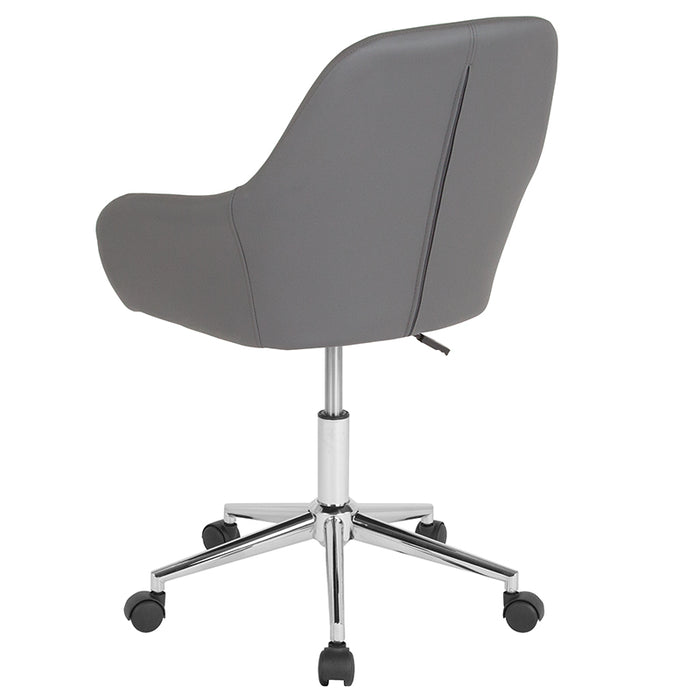 Atlanta Furniture Co. Gray Leather Mid-Back Chair