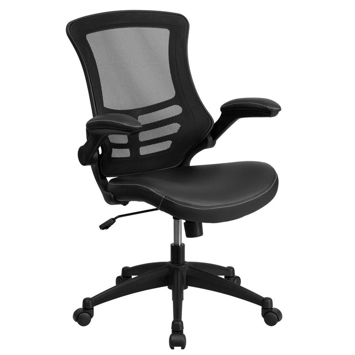 Atlanta Furniture Co. Black Mid-Back Leather Chair