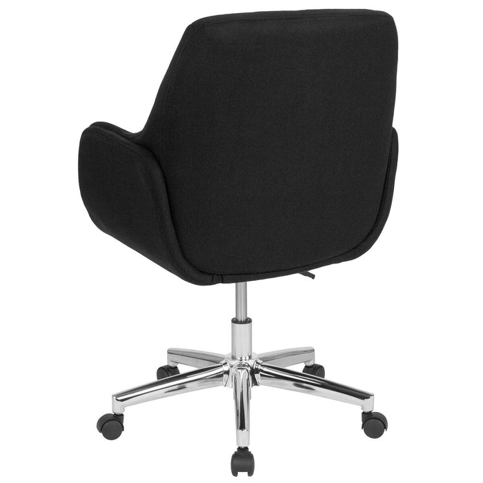 Atlanta Furniture Co. Black Fabric Mid-Back Chair