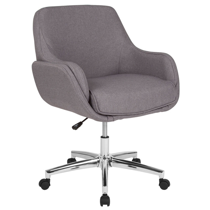 Atlanta Furniture Co. Lt Gray Fabric Mid-Back Chair
