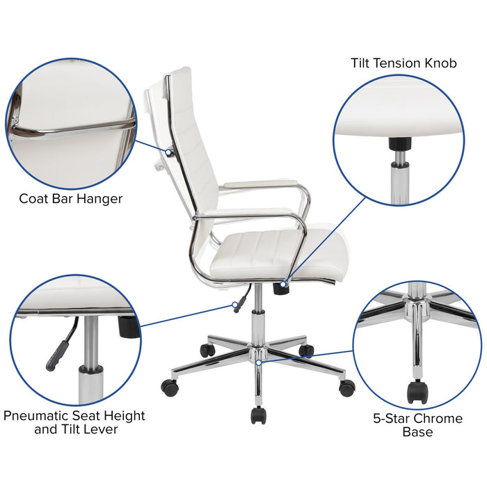 Atlanta Furniture Co. White LeatherSoft Office Chair
