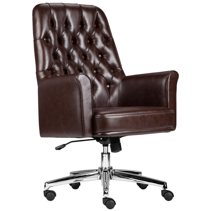 Atlanta Furniture Co. Brown Mid-Back Leather Chair