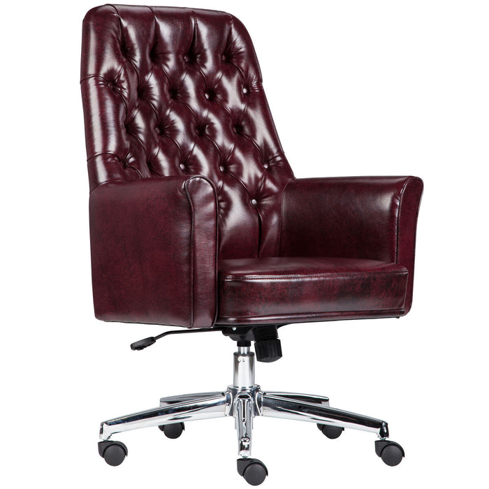 Atlanta Furniture Co. Burgundy Mid-Back Chair