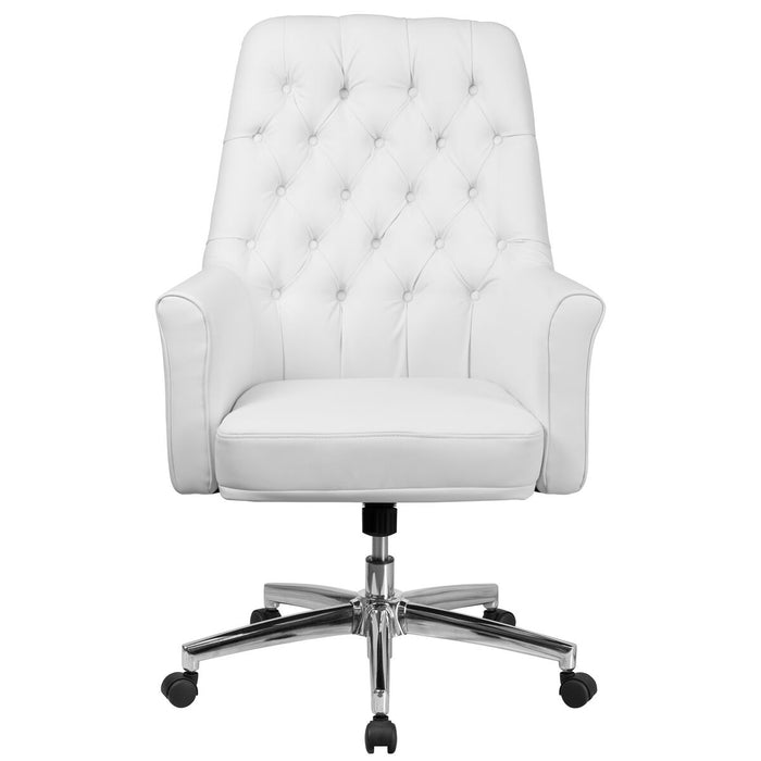 Atlanta Furniture Co. White Mid-Back Leather Chair