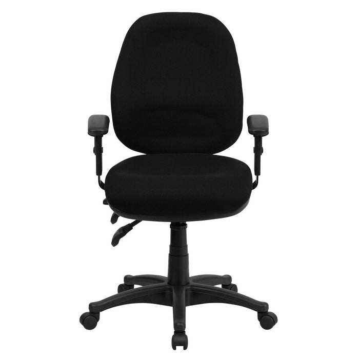 Atlanta Furniture Co. Black Mid-Back Fabric Chair