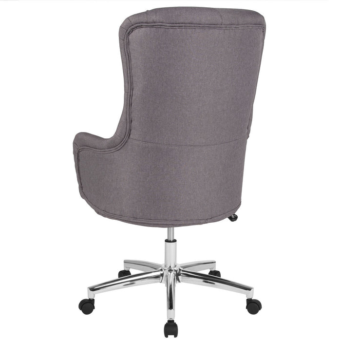 Atlanta Furniture Co. Lt Gray Fabric High Back Chair