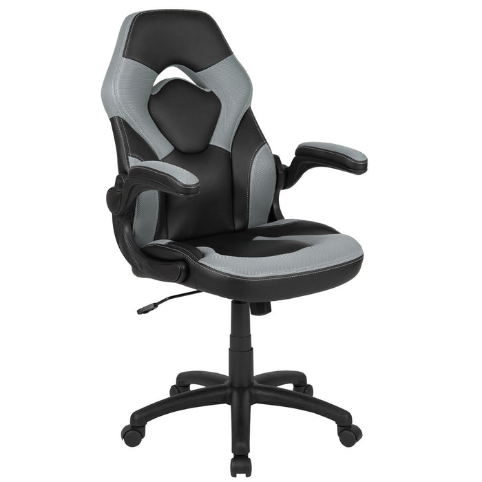 Atlanta Furniture Co. Gray/Black Racing Gaming Chair