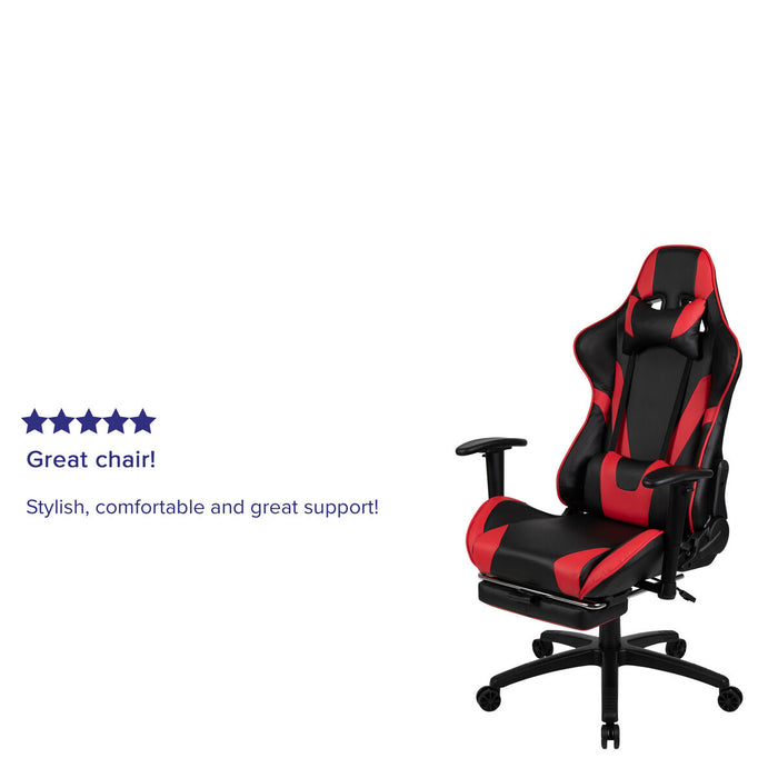 Atlanta Furniture Co. Red Reclining Gaming Chair