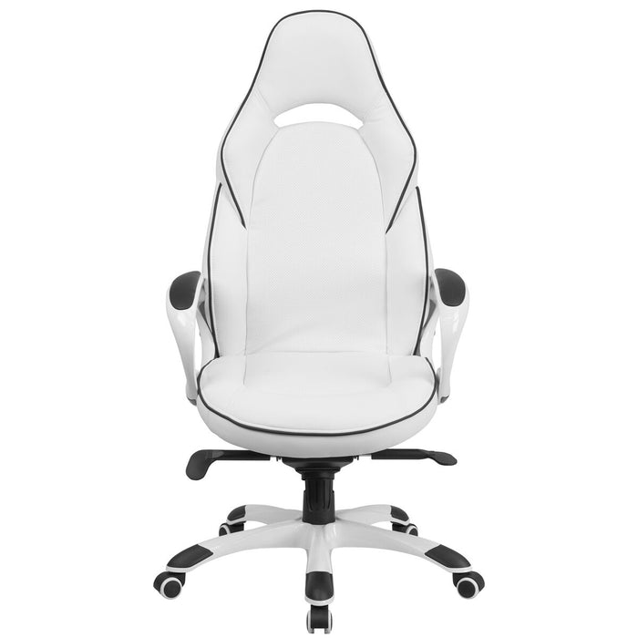 Atlanta Furniture Co. White High Back Vinyl Chair