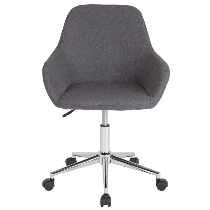 Atlanta Furniture Co. Dk Gray Fabric Mid-Back Chair