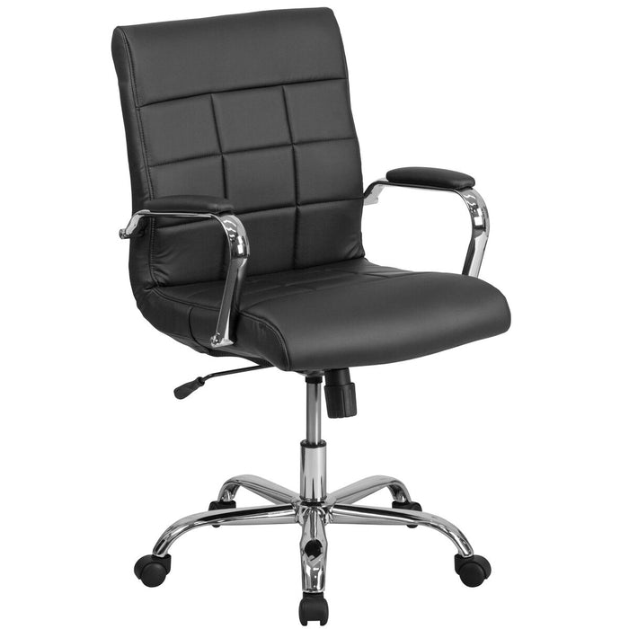 Atlanta Furniture Co. Black Mid-Back Vinyl Chair
