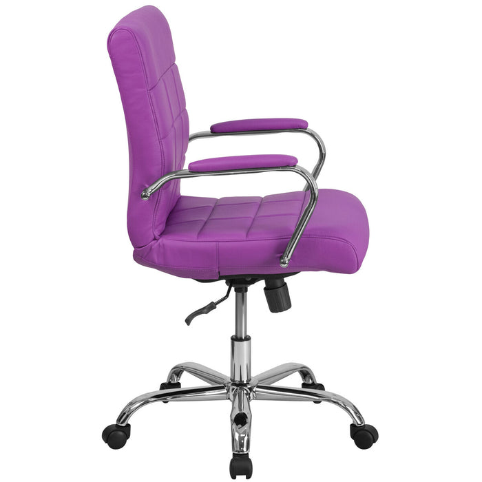 Atlanta Furniture Co. Purple Mid-Back Vinyl Chair
