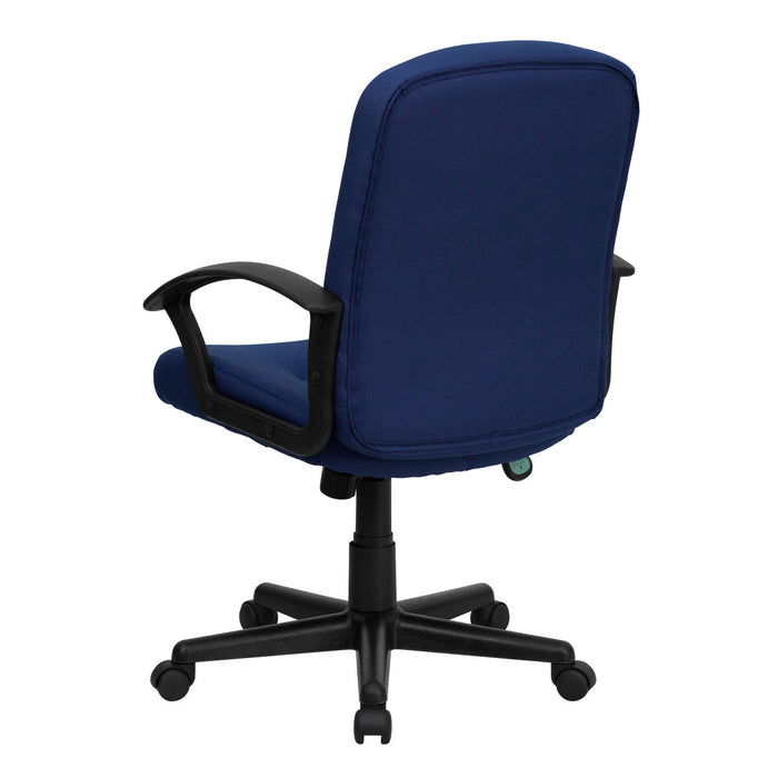 Atlanta Furniture Co. Navy Mid-Back Fabric Chair