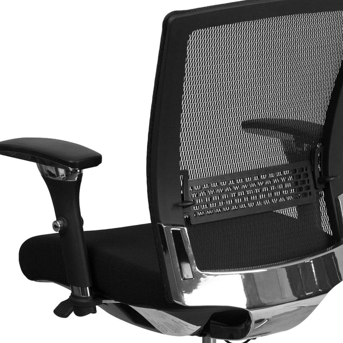 Atlanta Furniture Co. Black 24/7 Mesh Mid-Back-300LB