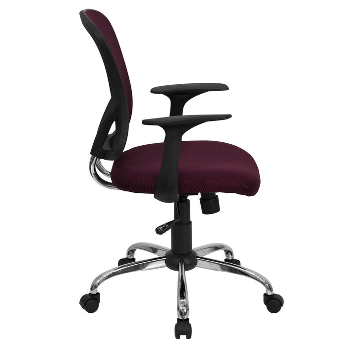 Atlanta Furniture Co. Burgundy Mid-Back Task Chair