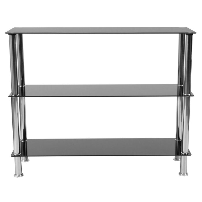 Atlanta Furniture Co. Black Glass Storage Shelf