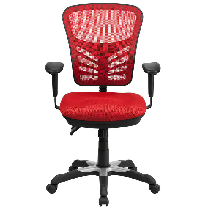 Atlanta Furniture Co. Red Mid-Back Mesh Chair
