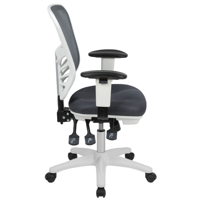 Atlanta Furniture Co. Gray/White Mesh Office Chair