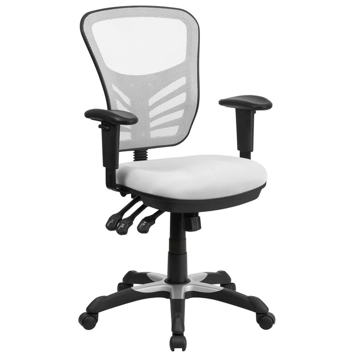 Atlanta Furniture Co. White Mid-Back Mesh Chair
