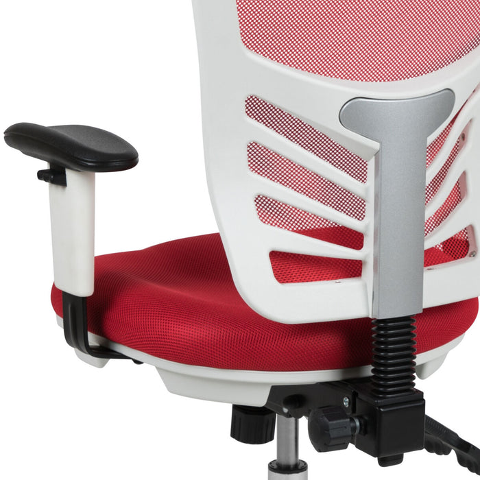 Atlanta Furniture Co. Red/White Mesh Office Chair