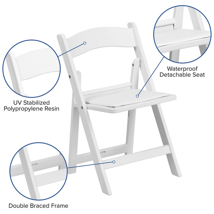 Atlanta Furniture Co. Kids White Resin Folding Chair