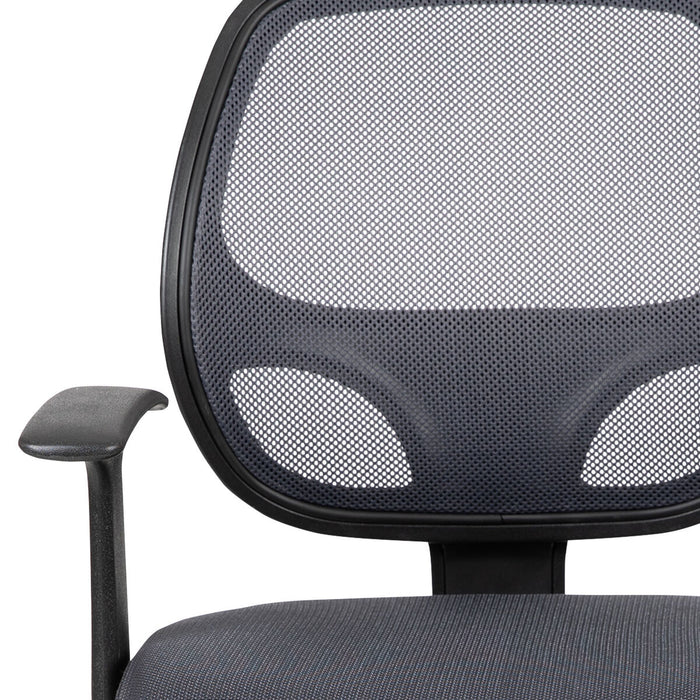 Atlanta Furniture Co. Mid-Back Gray Mesh Task Chair