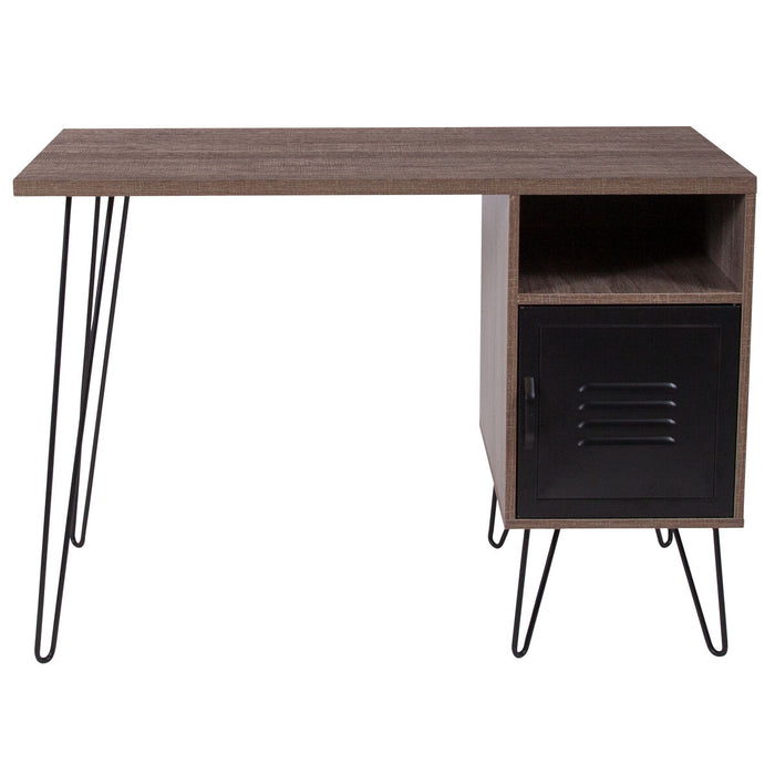Atlanta Furniture Co. Rustic Desk with Cabinet Door